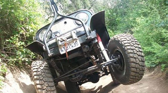 Photo of Jeep on the trail at Hollister SVRA